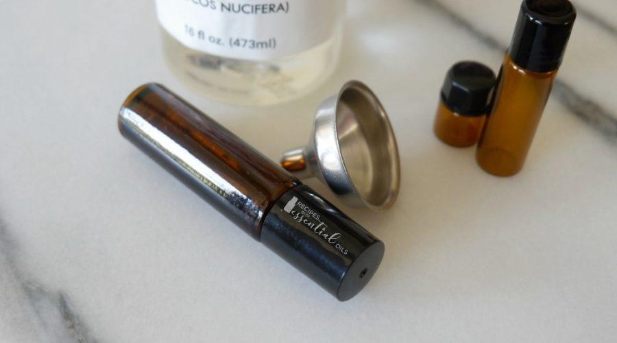 blending essential oil supplies bottles