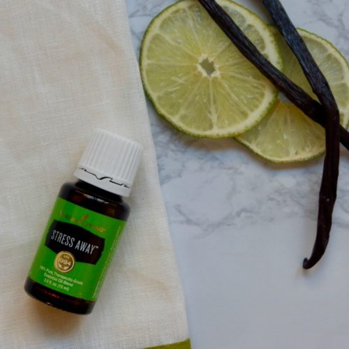 stress away essential oil young living lime and vanilla