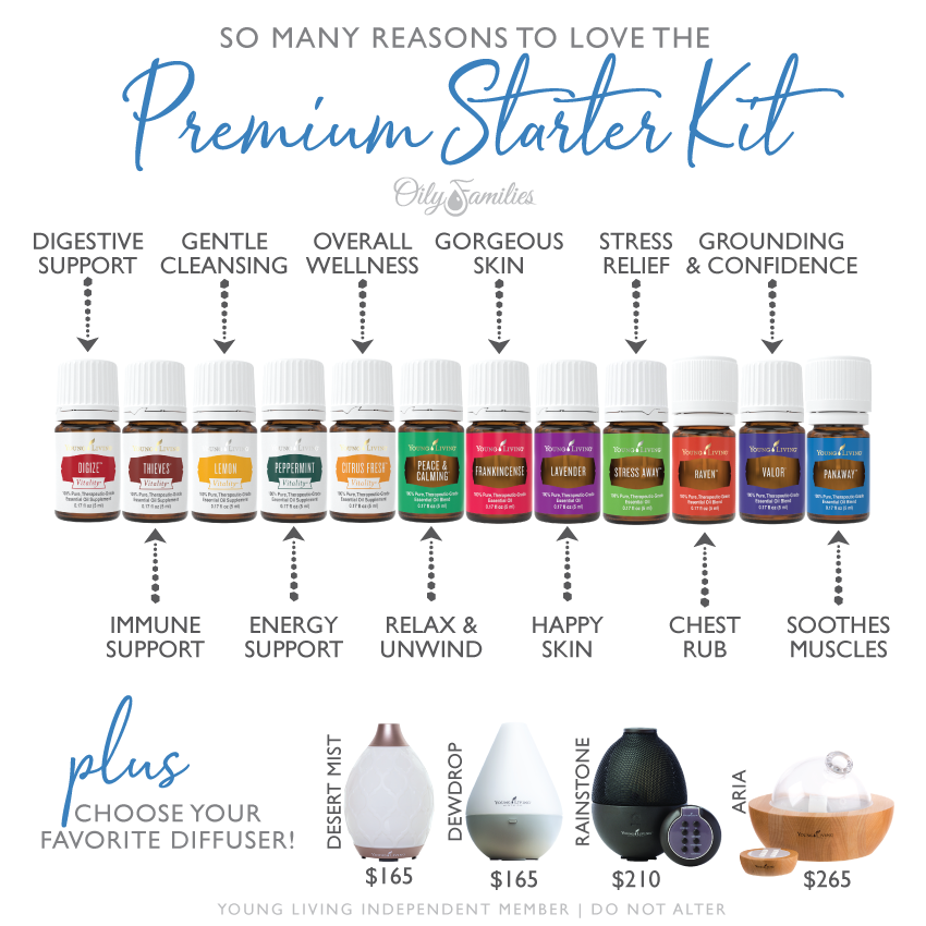 premium starter kit young living uses benefits