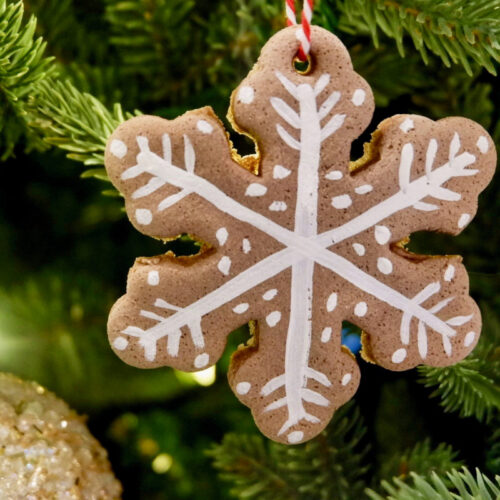salt dough diffuser ornament for essential oils