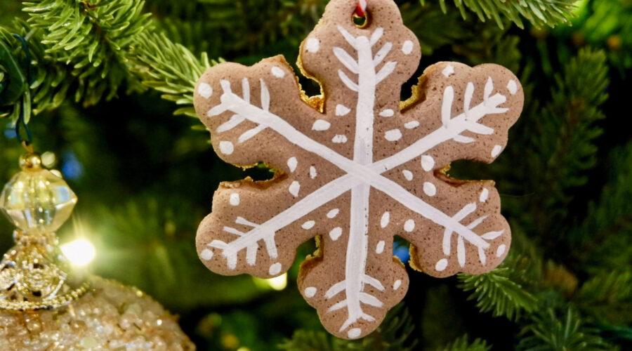 salt dough diffuser ornament for essential oils