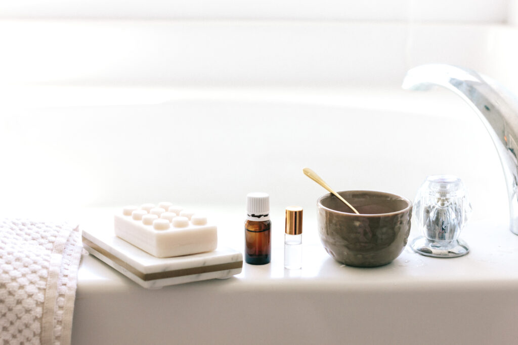 essential oil bath tub self care