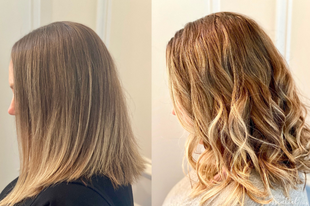 essential oils to lighten hair before and after