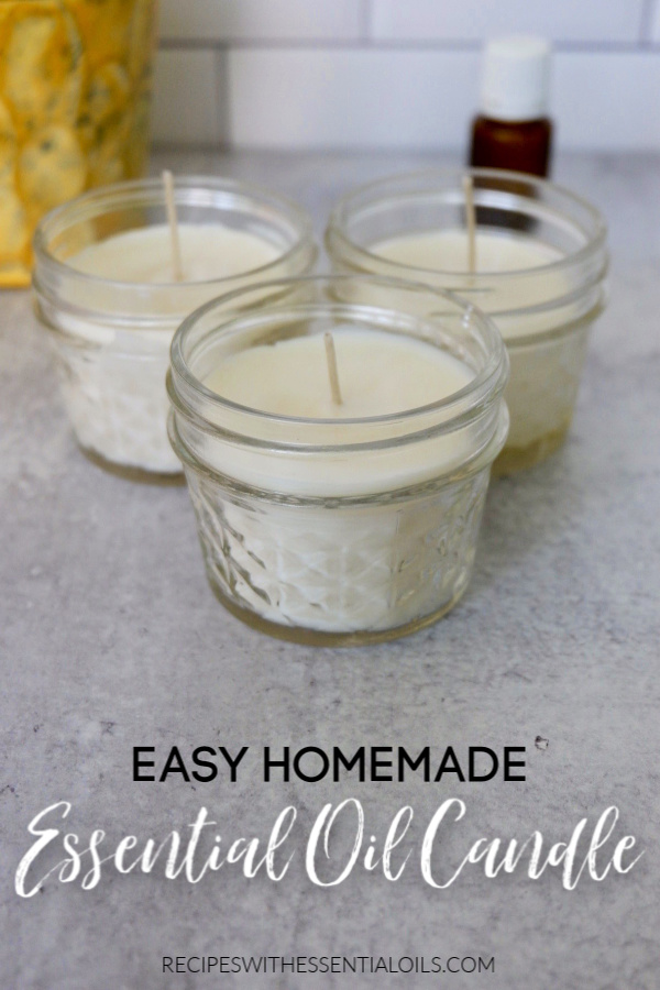 easy homemade essential oil candle