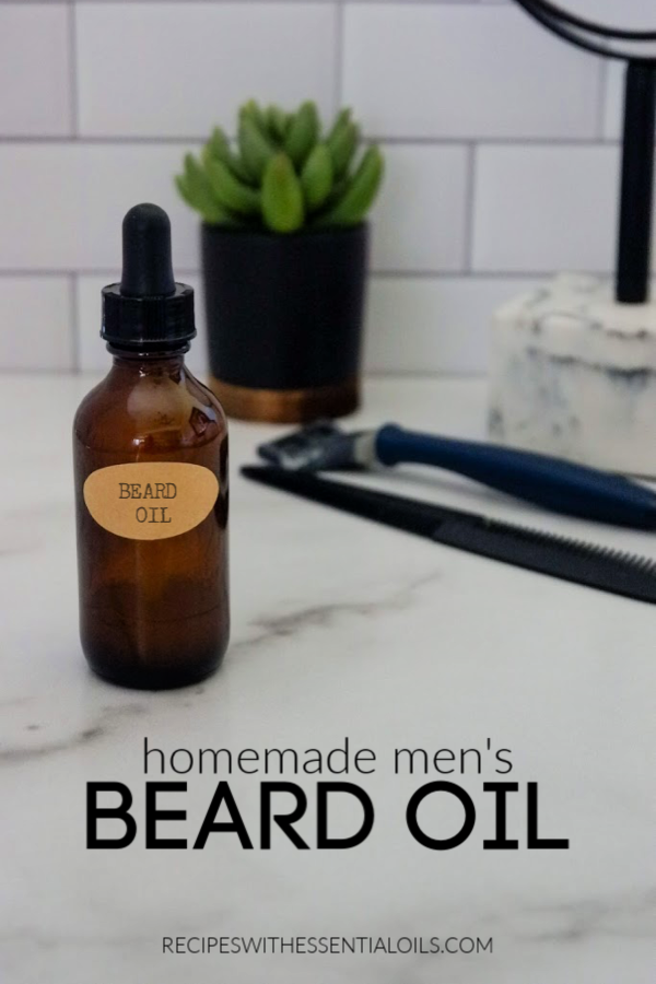 homemade essential oil beard oil recipe