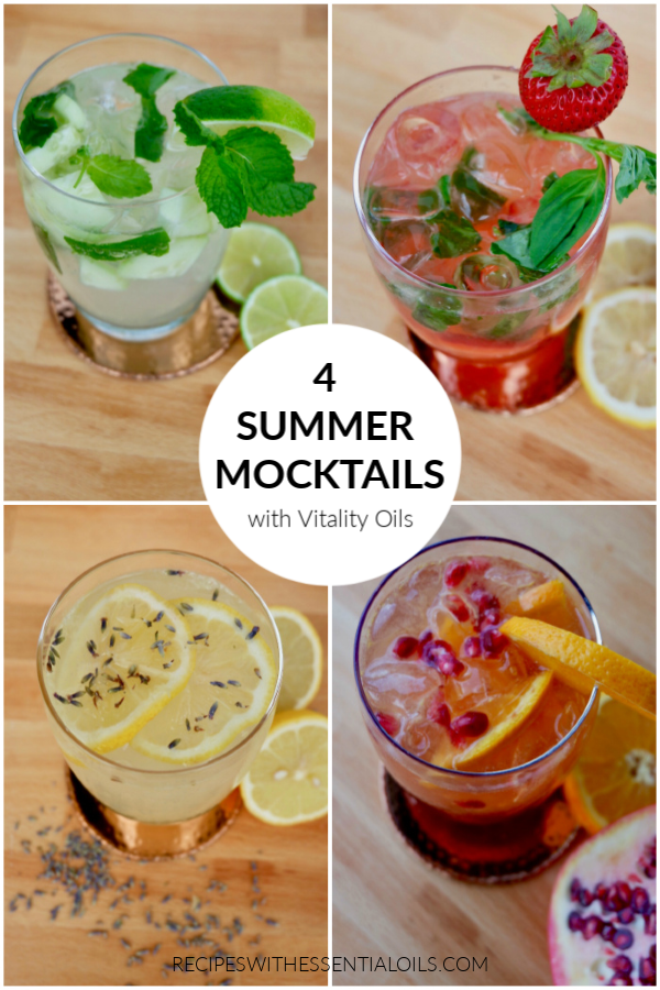 summer mocktail recipes with essential oils