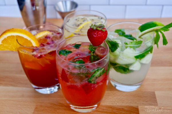 summer cocktails with young living vitality oils
