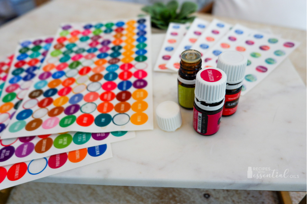 essential oil lid labels young living