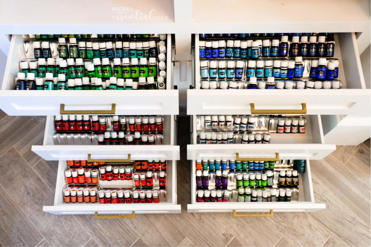 essential oil storage drawers