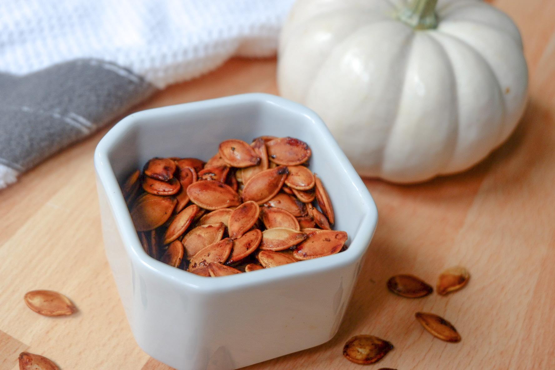 roasted essential oil pumpkin seeds
