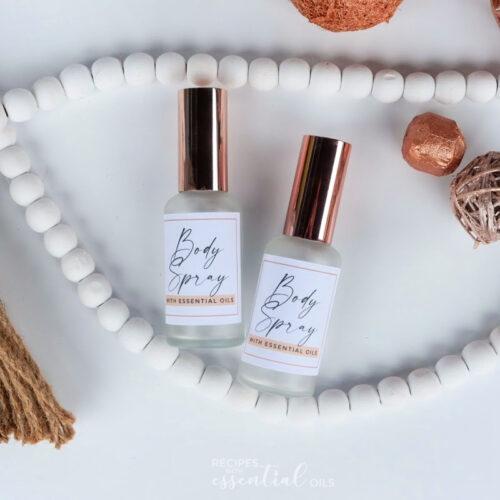 Body Spray Recipe using essential oils