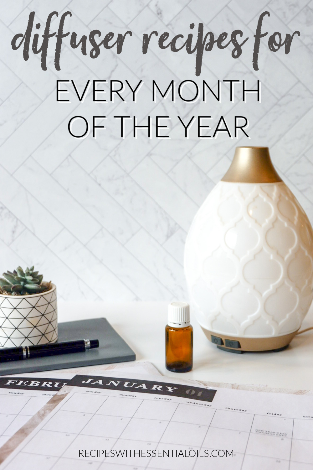 Diffuser Recipes for Every Month of the Year