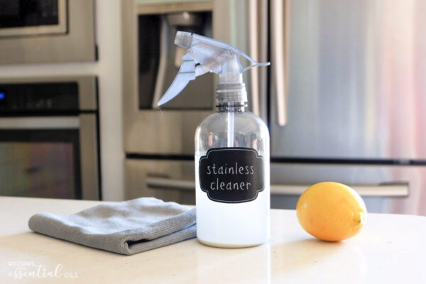stainless steel cleaner recipe using essential oils