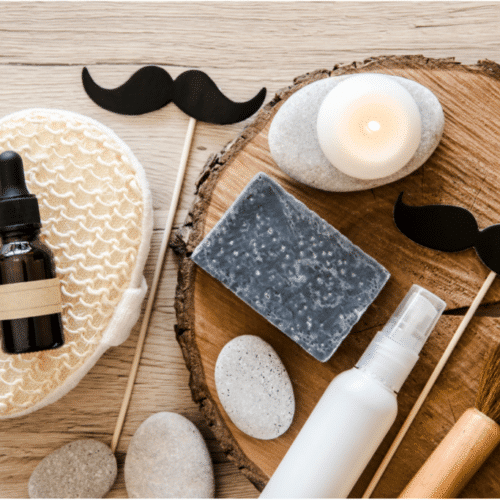 homemade beard oil with essential oils